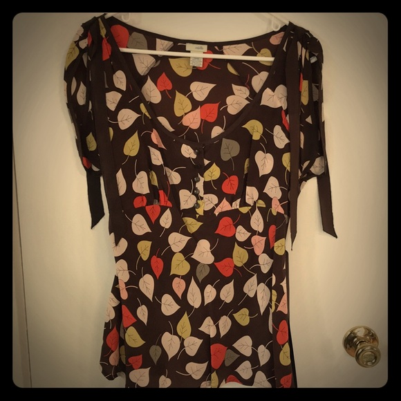 Anthropologie Tops - Anthropologie Odille Silk Top size 12